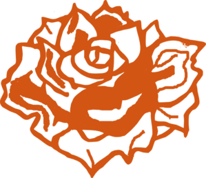 Burnt Orange Rose 2 Clip Art