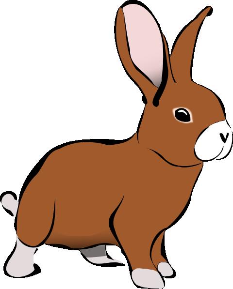 brown bunny rabbit clip art at clker com vector clip art online rh clker com clip art bunny easter clip art bunny tracks