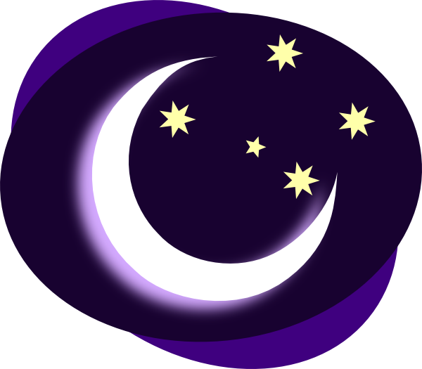 free clip art moon and stars - photo #7