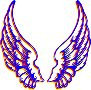 Colored Wings Clip Art