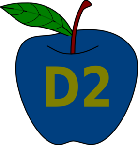 Blue Apple  Clip Art
