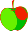 Red Green Apple Clip Art