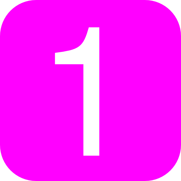 pink rounded square with number 1 clip art at clker com vector rh clker com  pink number 8 clipart