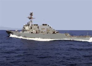 The Guided Missile Destroyer Uss Donald Cook (ddg 75) Conducts A High-speed Maneuver Clip Art