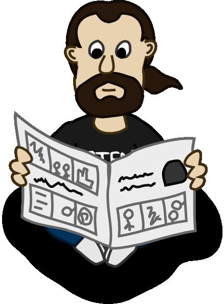 Reading Newspaper Clip Art at Clker.com - vector clip art ...