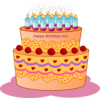 Iris Birthday Cake Clip Art