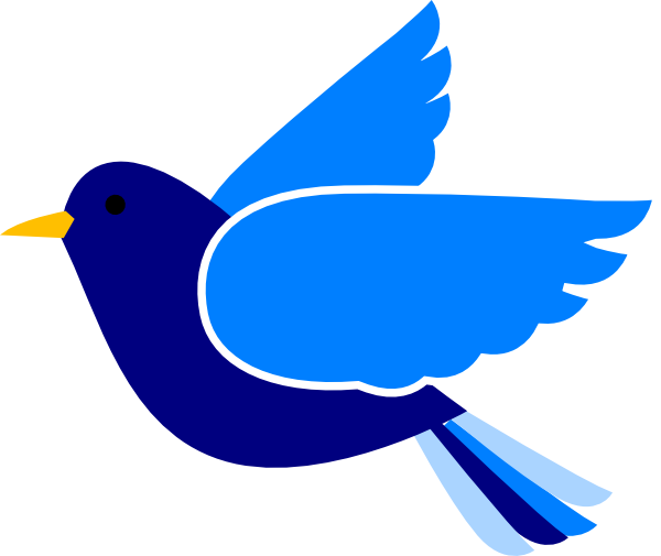 Blue Bird Left2 Clip Art at Clker.com - vector clip art ...