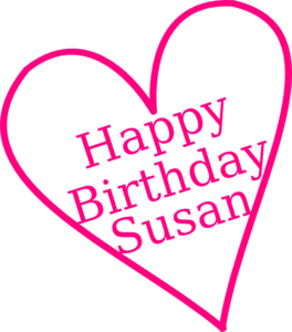 Happy Birthday Susan Clip Art