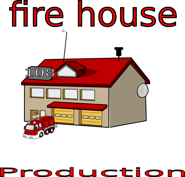 clip art of fire station - photo #41