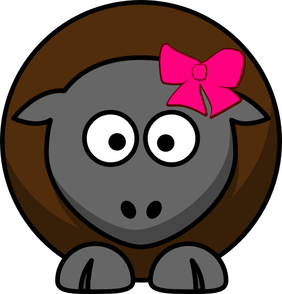 Sheep Cartoon Clip Art at Clker.com - vector clip art ...
