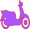 Scooter Purple Clip Art