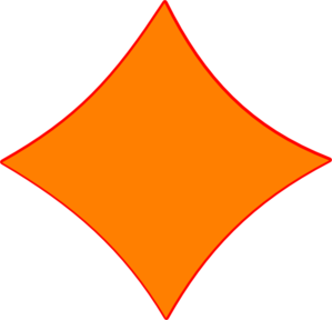Orange Triangle Clip Art