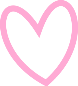 Slant Pink Heart Outline Clip ArtPink Heart Outline Png