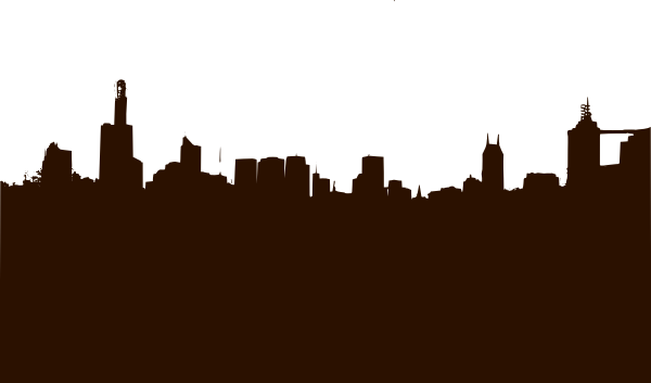 Basic City Silhouette Clip Art at Clker.com - vector clip ...