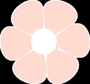 Light Pink Flower Clip Art At Clker Com Vector Clip Art Online