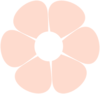 Light Pink Flower Clip Art