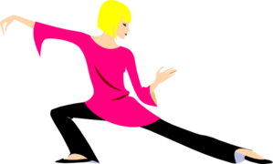 Blonde Woman In Yoga Position Clip Art