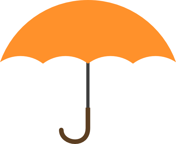 Orange Umbrella Clip Art Orange umbrella clip art