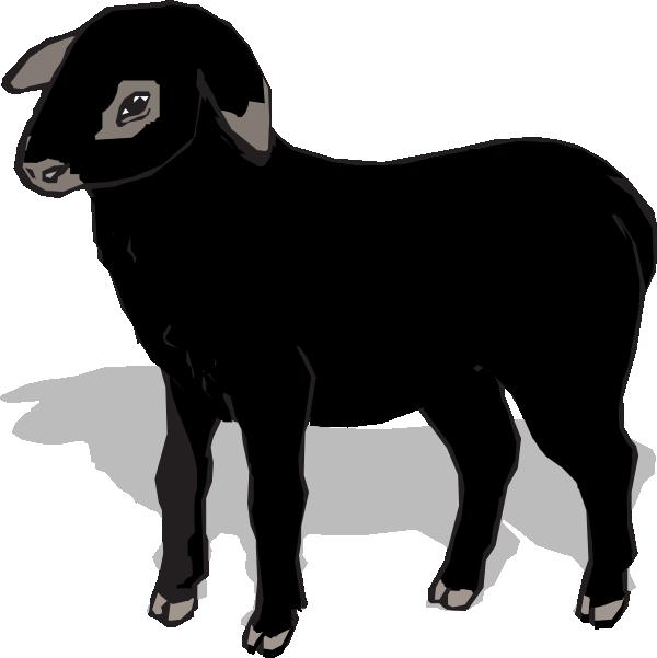 black lamb clip art at clker com vector clip art online baba black sheep clipart black sheep clipart graphics