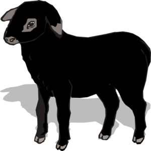 black lamb clip art at clker com vector clip art online royalty rh clker com baa baa black sheep clipart baa baa black sheep clipart