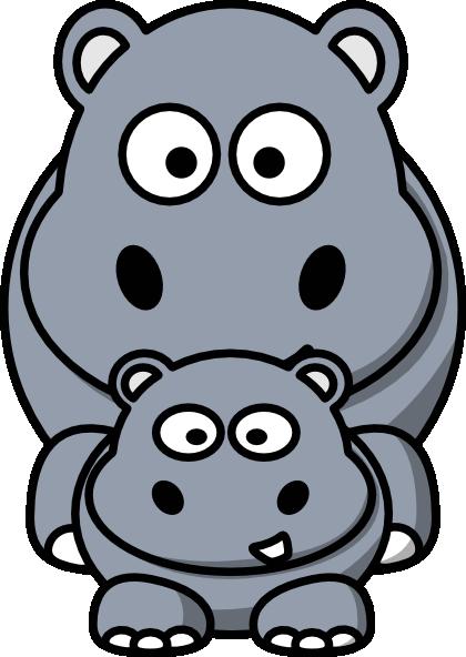 baby hippo clipart - photo #45