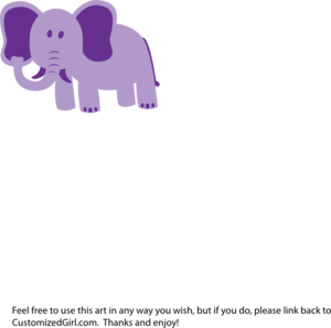 Elephant Alone Clip Art