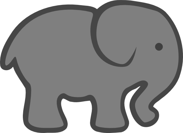 gray elephant free clip art - photo #15
