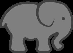 Grey Elephant Mom & Baby Clip Art at Clker.com - vector ...