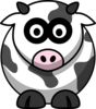 Cow Looking Foward Clip Art