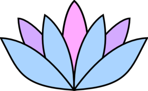 Lavender Lotus Flower Clip Art