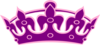 Tiara No Cross Purple On Pink Clip Art