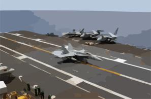 An F/a-18c Hornet Makes The First Arrested Landing Following A Recently Applied Non-skid Landing Area In Apra Harbor, Guam Clip Art