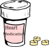 Heart Medication Clip Art