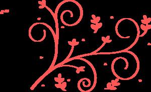 Salmon Floral Clip Art at Clker.com - vector clip art online, royalty ...