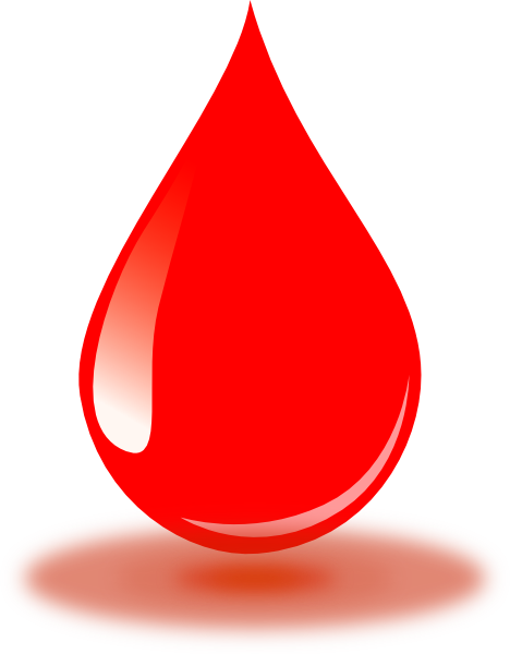 Real Red Blood Drop Clip Art At Clker Com Vector Clip