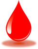 Real Red Blood Drop Clip Art