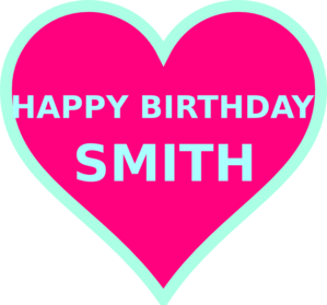 Smith Bday4 Clip Art