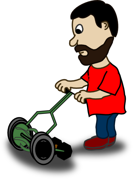 man cutting his grass clip art at clker com vector clip art online rh clker com