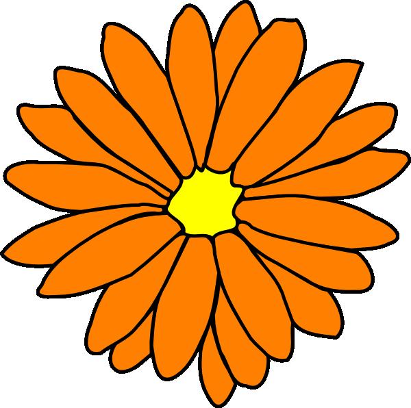 orange flower clip art at clker com vector clip art online rh clker com Purple Flower Clip Art Red Flower Clip Art