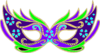 Purple Green Blue Masquerade Mask - Fnc Clip Art