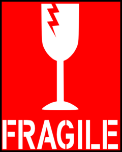 Fragile Red Clip Art