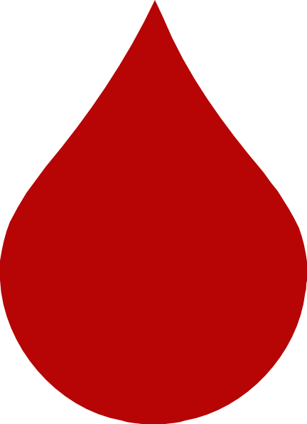 Red Blood Drop Clip Art at Clker.com - vector clip art online, royalty ...