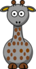 Gray Giraffe With 20 Dots- Fixed Nose Clip Art