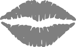 Hot Grey Lips Clip Art