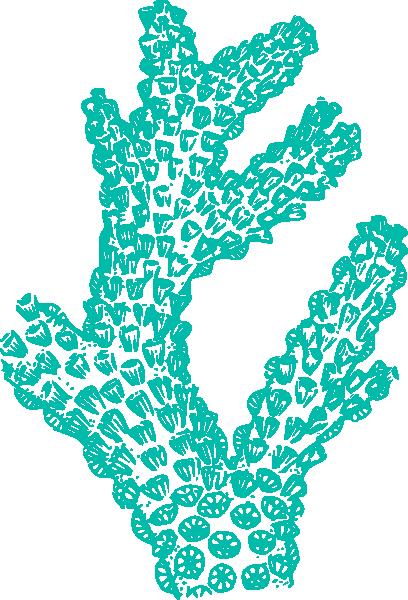 Teal Coral Clip Art at Clker.com - vector clip art online, royalty ...