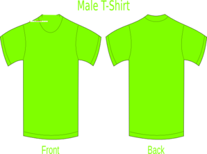 Neon Green T-shirt Clip Art