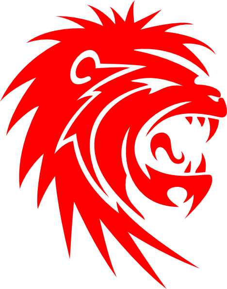 Roaring Red Lion Clip Art at Clker.com - vector clip art ...