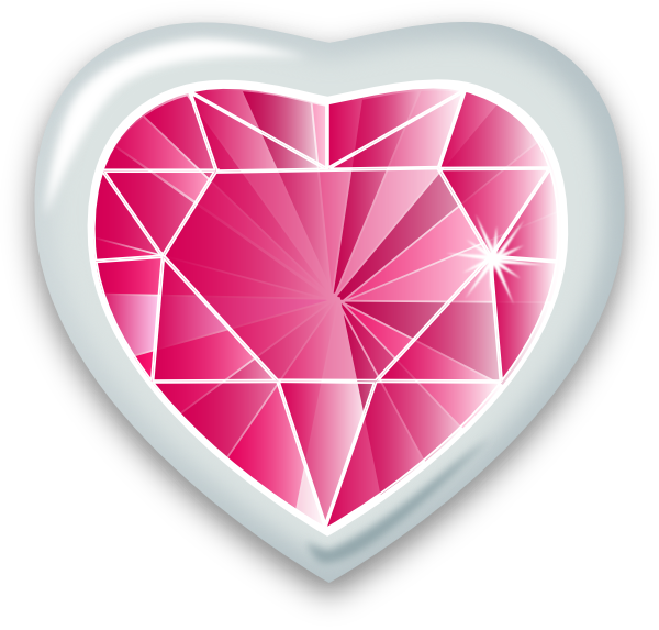 Heart Gem Clip Art at Clker.com - vector clip art online, royalty free ...
