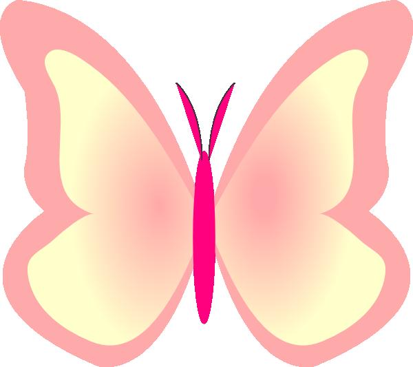 Purple Butterfly Scroll Clip Art At Clker Com: Bright Butterfly Clip Art At Clker.com