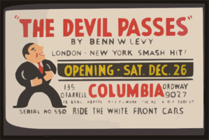 The Devil Passes  By Benn W. Levy Clip Art